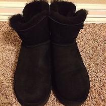 Ugg Mini Bailey Button Black Size 10 Photo
