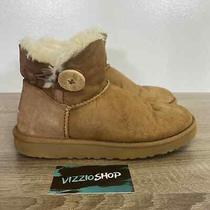 Ugg - Mini Bailey Button Brown Cream Snow Boots - Women's 7 - 3352 Photo
