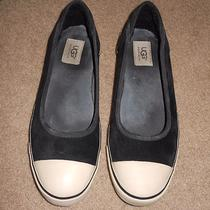 Ugg Neema Black Ballet Flats in Size 10-Euc Hard to Find Photo