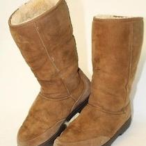 Ugg New Zealand Made Vintage Womens 8 Ultra Tall 5245 Brown Sheepskin Boots Hg Photo