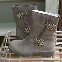 Ugg Niels Ankle - Mid Calf Winter Brown Leather Sheepskin Lined Boots Buckles 6 Photo
