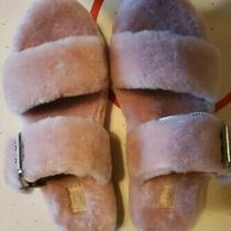 Ugg Pink Crystal Fuzz Yeah Slide Sheepskin Slipper Sandals Us 9/ Eur 40 Nbb Photo