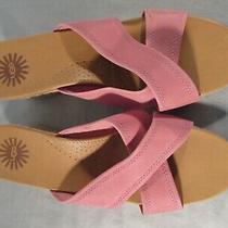 Ugg Pink Gwyn Espadrille Wedge Sandals Photo