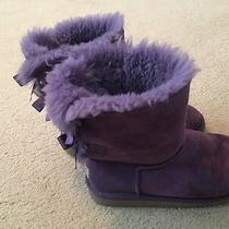 Ugg Purple Bailey Bow Boots 3 Youth - Gently Used Photo