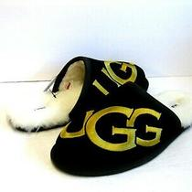 Ugg Scuff Logo Men Slippers Suede Black Us 10 /uk 9 /eu 43 Photo