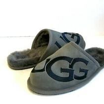 Ugg Scuff Logo Men Slippers Suede Metal / Dark Sapphire Us 11 /uk 10 /eu 44 Photo