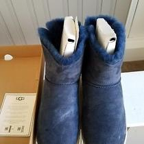 Ugg Selene Bailey Bow Rope Navy Fur Boots Size 10 New in Box Photo