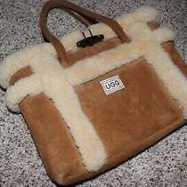 Ugg Shearling Leather Suede Sheepskin Purse Handbag Tan Chestnut Photo