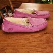 Ugg Shearling Lined Suede Moccasin Slipper Shoes Sz 9 Photo