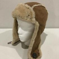 Ugg Shearling Sheepskin Trapper Hat Size Small Photo