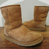 Ugg Sheepskin Shearling Classic Short Chestnut Tan Snow Boots Womens 7 5825 Photo