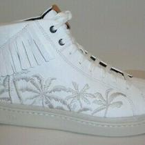 Ugg Size 10.5 Cali Brecken White Fringe Palms Leather Sneakers New Mens Shoes Photo