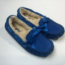 Ugg Slippers Loafers Shoe Blue Slip on Womens No Size Tag Read  Photo