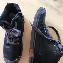 Ugg Sneaker Boots Size 3 Black Grey Trim  Photo