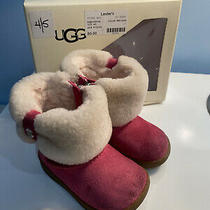Ugg Snow Boots Winter Baby Fur Warm Children Soft Pink Shoes Size 4.5 Photo