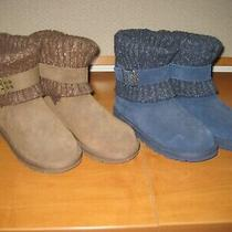 Ugg Suede Leather Boots Size 6 2 Pairs to Choose From Brown or Blue Photo