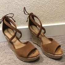 Ugg Suede Wedge Sandals Shoes Heels Size 9.5 Photo