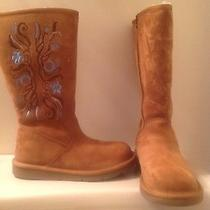 Ugg Sunset Embroidered Ladies Boot Size 6 Photo