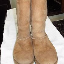 Ugg Tall Suede Cognac Brown  Boots 7 Photo