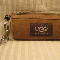 Ugg Tan/brown Leather/suede Coin Purse & Key Ring - New - Never Used Photo