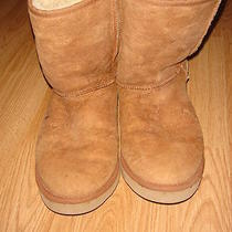 Ugg Tan Sueded Bootsmens Sz 11 Excellent Used Condition Photo