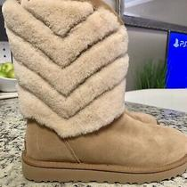 Ugg Tania Chestnut Shearling Cuff Boots Us 9 Photo