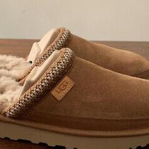 Ugg Tasman Slip-on New Mens Chestnut Suede Sheepskin 1103900 Size 10 Slippers Photo