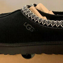 Ugg Tasman Womens Sz 6 New Black Authentic Shearling Slippers/ Moccasins 5955 Photo