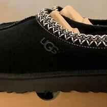 Ugg Tasman Womens Sz 8 New Black Authentic Shearling Slippers/ Moccasins 5955 Photo