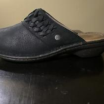 Ugg Theresa Black Leather Mules 1005430 Women Size 7 Photo