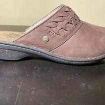 Ugg Theresa Brown Leather Mules 1005430 Women Size 7 Photo