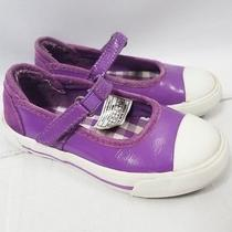 Ugg Toddler Girls Purple Leather Mary Jane Tennis Shoes Sneakers Size 9 Photo
