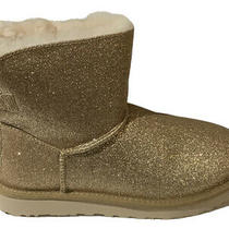 Ugg Treadlite Women's Mini Bailey Bow Sparkle Ankle Boots Booties Gold - Size 8 Photo