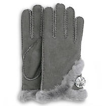 Ugg U1832 175 Grey Bailey Bling Glove W/ Swarovski Elements Sz L Nwt Photo