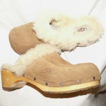 Ugg Uggs Australia Leather & Sheepskin Clogs Shoes  Sz 5 Photo