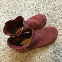 Ugg Unlined Boots Suede Red Size 8 Photo