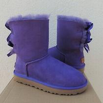 Ugg Violet Bloom Bailey Bow Ii Suede/ Sheepskin Boots Women Us 6/ Eur 37 Nib Photo