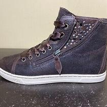 Ugg W Blaney Crystals Brown Leather Suede Sneakers 1008490 Women Size 7 Photo