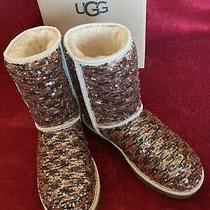 Ugg W Classic Sequin Bronze/silver Boots  So Pretty  Size 8.  Free Shipping Photo
