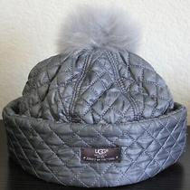 Ugg Water Resistant Quilted Genuine Shearling Pompom hat.75  Photo