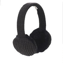 Ugg Wired Earmuffs Black Cable Knit New in Box Photo