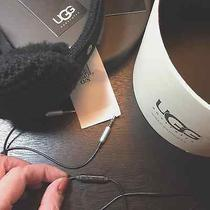 Ugg Wired Earmuffs in Black Cable-Knit Photo