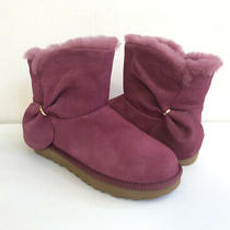 Ugg Women Classic Mini Twist Bougainvillea Shearling Boot Usa 6 / Eu 37 / Uk 4 Photo
