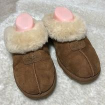 Ugg  Women Coquette Chestnut Suede Slip on Fur Lined Slippers Size 10 Photo