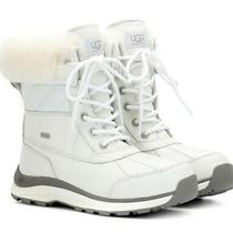 Ugg Women's Adirondack Iii Leather Quilted Waterproof Ski Boots Sz6 White Photo