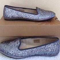 Ugg Womens Alloway Glitter Ballet Flats Sterling Silver Us 9.5 Nib  Photo