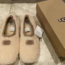 Ugg Women's Birche 1007721 Shearling Slip on Slippers Size 12 Natural Photo