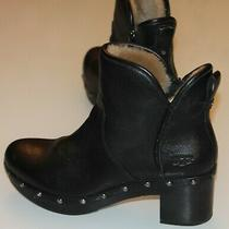 Ugg Women's Cam Ii Platform Ankle Clog Boots 1013052 Size 9 Black Used Photo