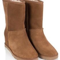Ugg Women's Classic Femme Short Boots With Hidden Wedge Heel Size 11 Chestnut Photo