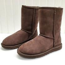 Ugg Women's Classic Short Chocolate Boots 5825 Sz 6 Photo